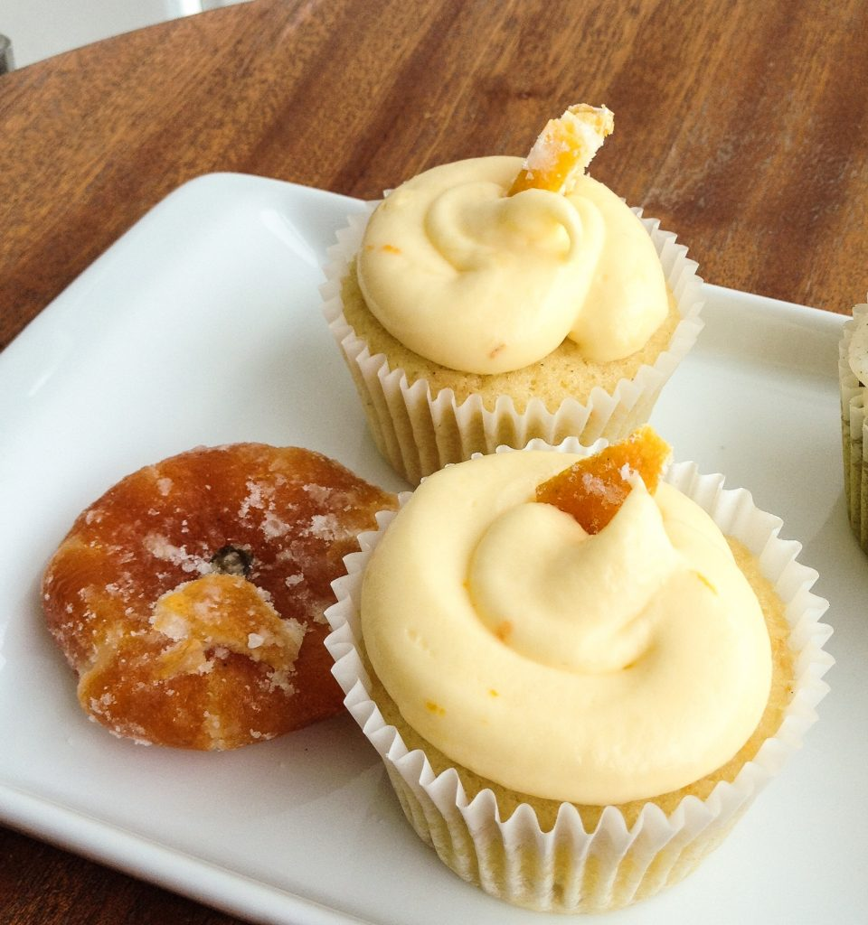 Mandarin Frosted Pineapple Cupcakes