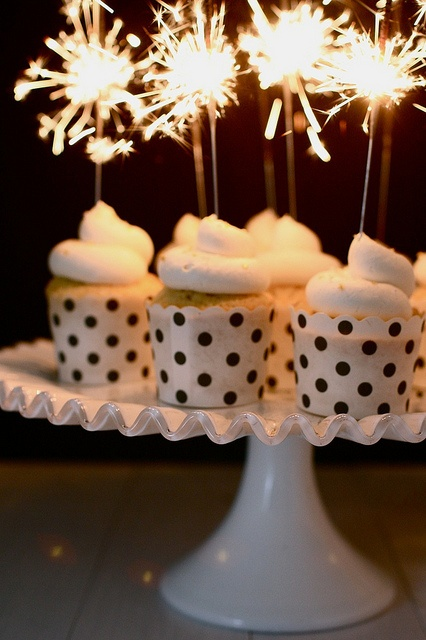 Mini Cupcakes with Sparkler Toppers