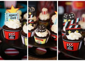 Movie Party Cupcakes