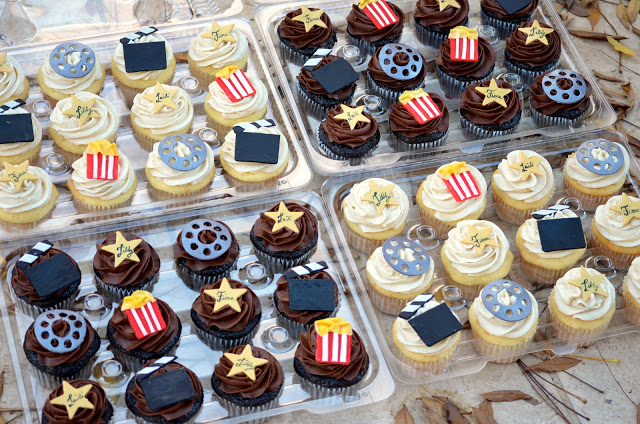 Movie Themed Party Cupcakes