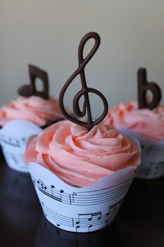 Music Cupcakes For Girls