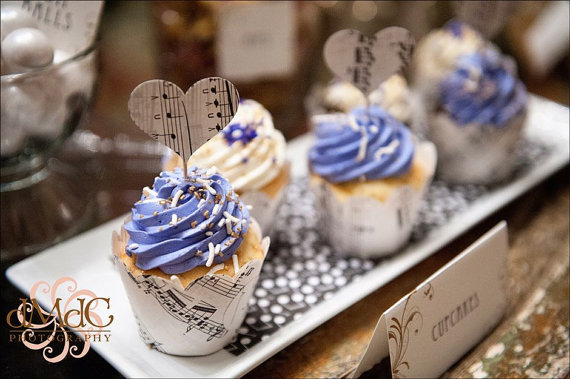 Musical Cupcake Wrappers