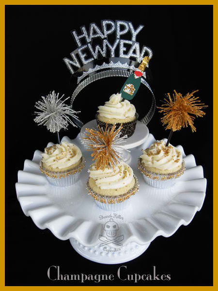 New Years Eve Champagne Cupcakes
