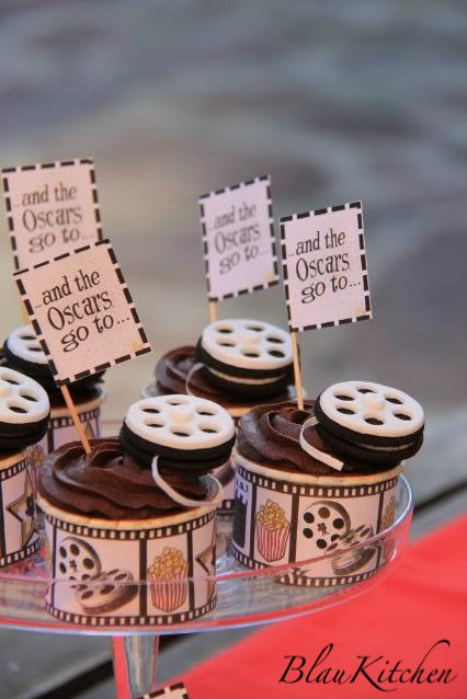 Oscars and Film Reels Cupcakes