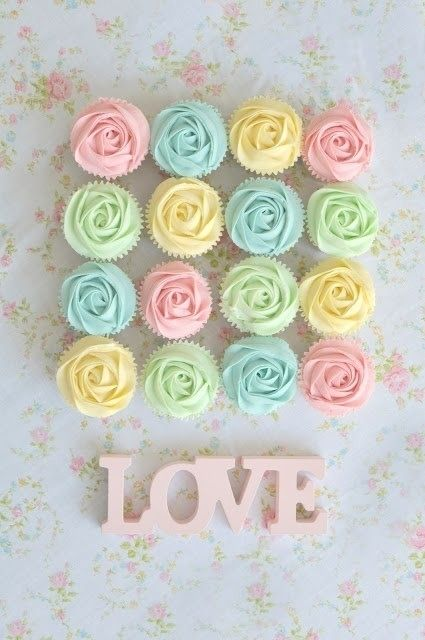 Pastel Colorful Cupcakes