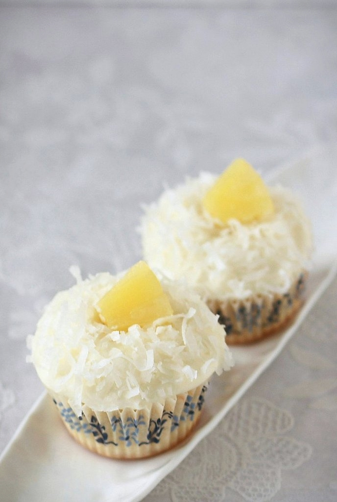 Perfect Coconut Pineapple Cupcakes