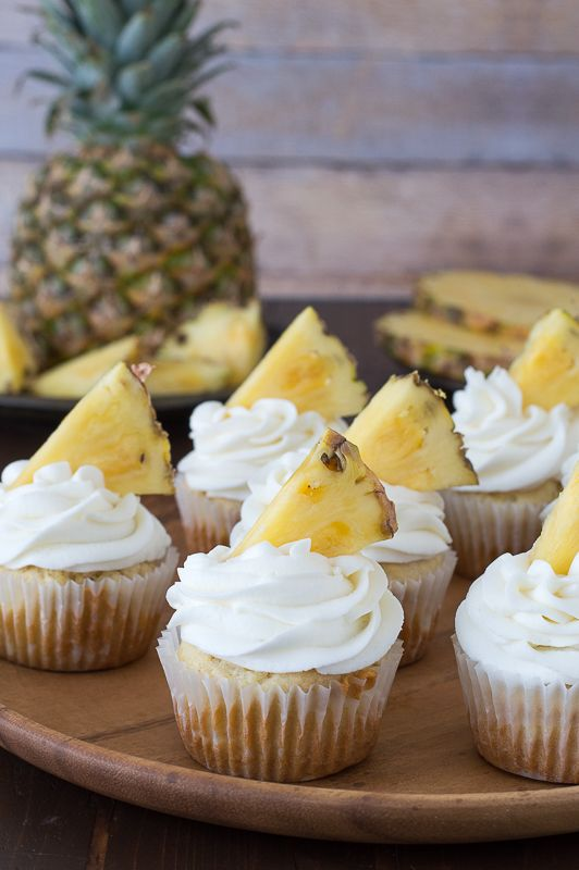 Pineapple Topped Cupcakes