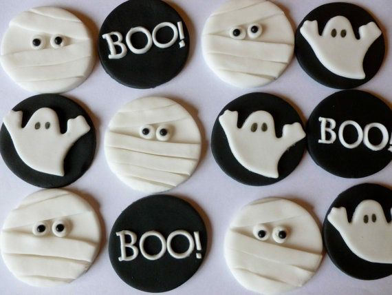 Scary Boo Cupcake Toppers