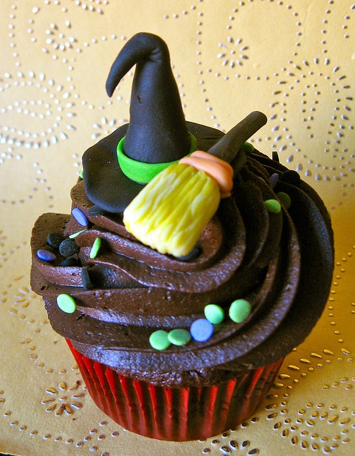 Scary Witch Hat Cupcake Toppers