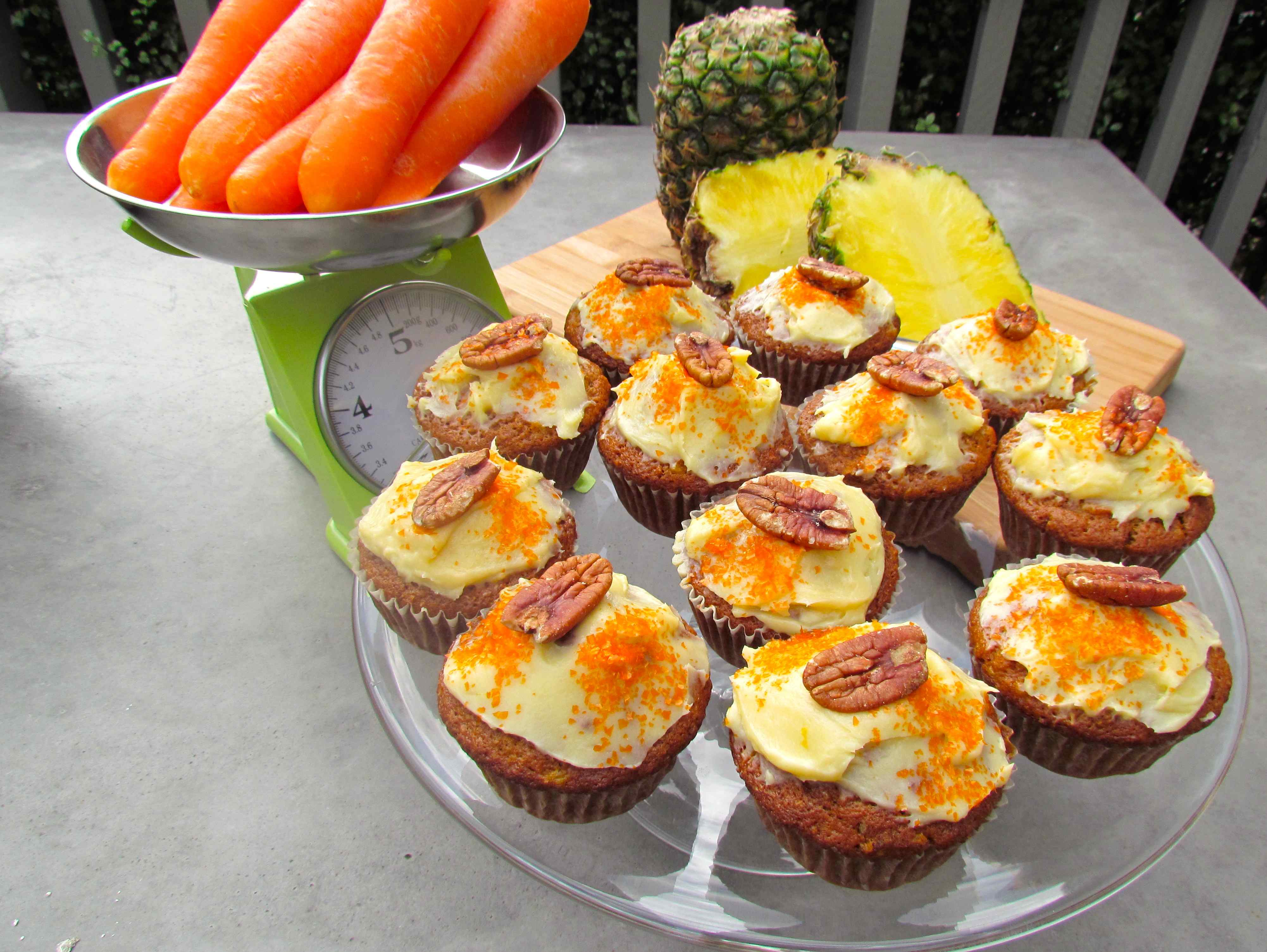 Sweet Pineapple and Carrot Cupcakes