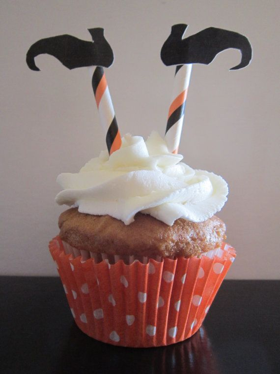 Witch Legs Halloween Cupcake Topper