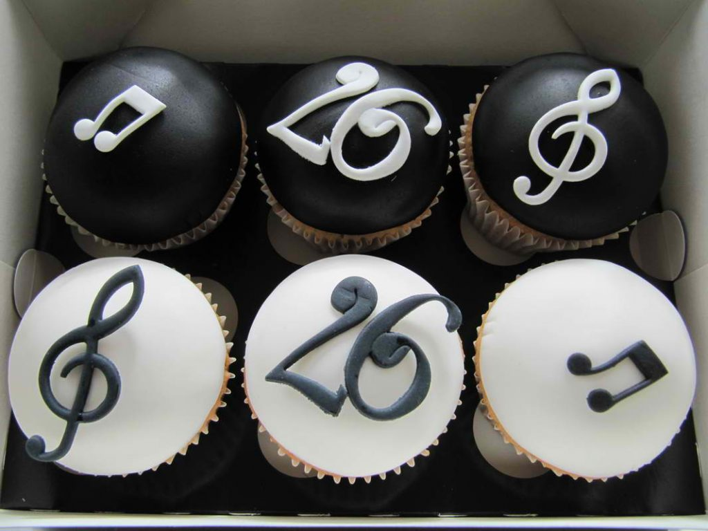 Yummy Musical Note Cupcakes