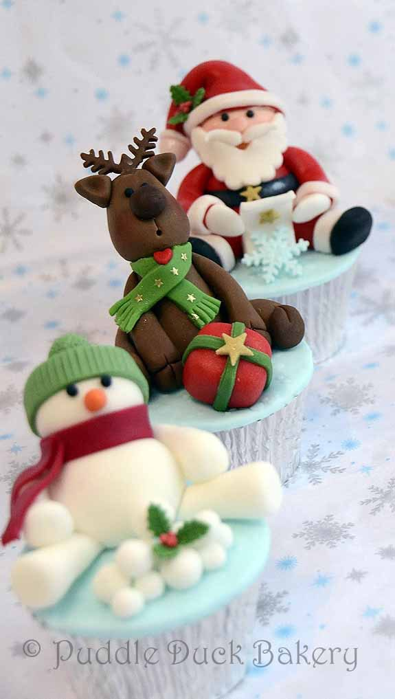 Fancy Christmas Cupcakes