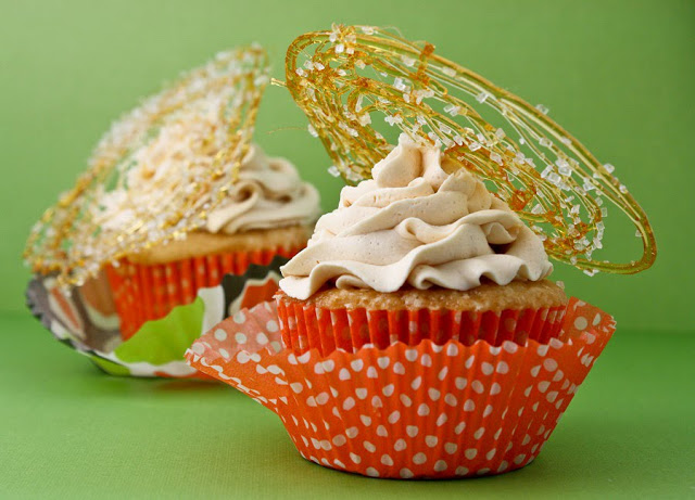 Lovely Caramel Topped Cupcakes