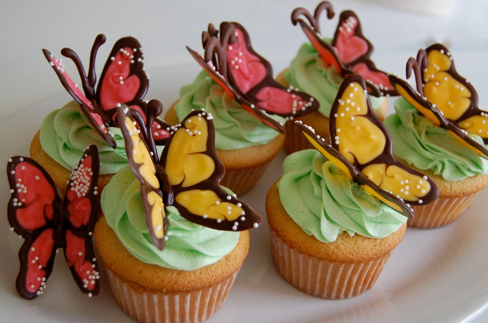 Adorable Butterfly Cupcakes