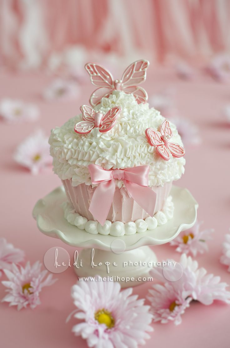 Baby Shower Butterfly Cupcake