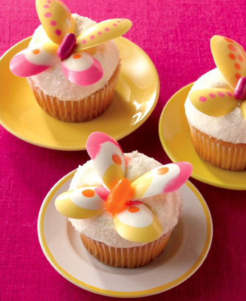Colorful Butterfly Cupcakes