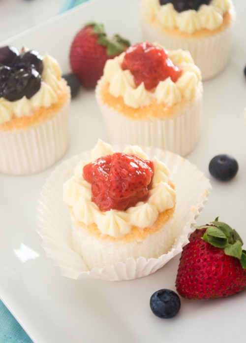 Fresh Berry Compote Cupcakes
