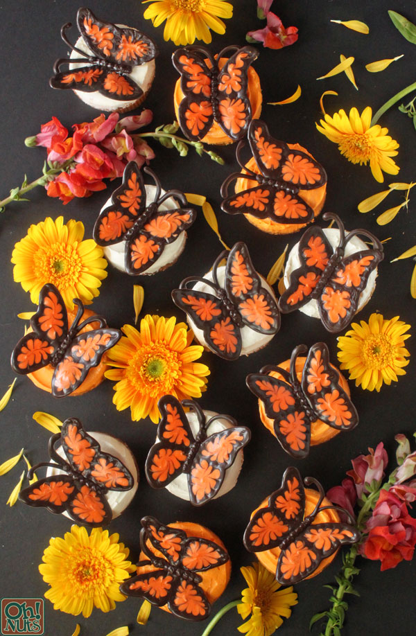 Orange Chocolate Butterfly Cupcakes