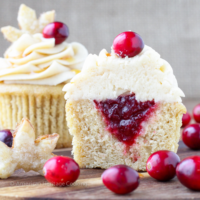 Spiced Apple Cider Cranberry Cupcakes