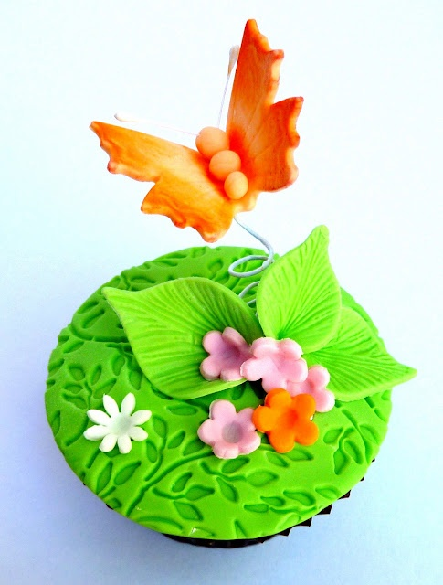 Spring Butterfly Cupcake