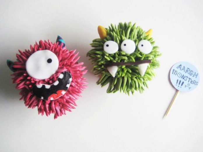 Fluffy Monsters Cupcakes