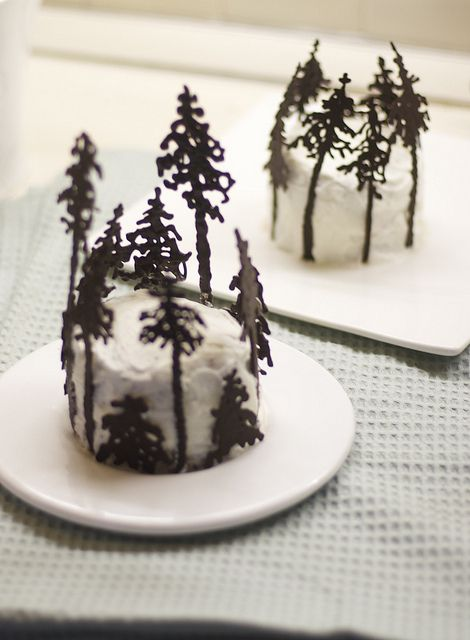 Pines In The Snow Cupcakes