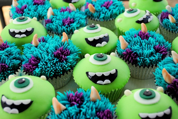 Sulley and Mike Cupcakes