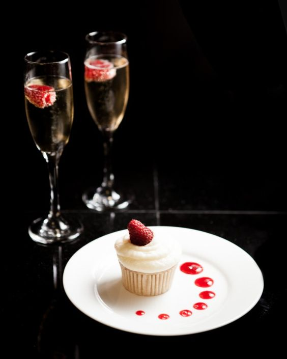Raspberry Cupcake With Champagne Buttercream Frosting