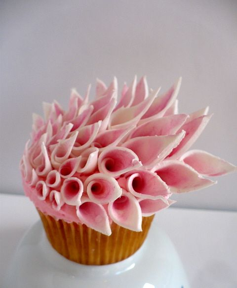 Unique Couture Inspired Floral Cupcake