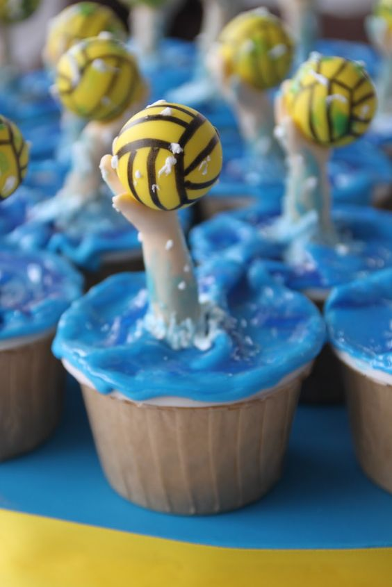 Water Polo Cupcakes