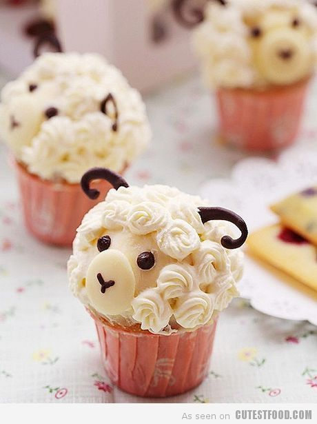 Lovely Sheep Cupcakes