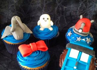 Weeping Angels, Dalek, Bowtie, and Fats Doctor Who Cupcakes