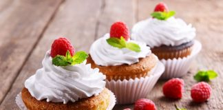 Vegan Cupcakes with Coconut Whipped Cream and Berries