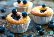 Blueberry Jam Center Cupcakes