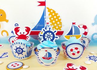 Clever Nautical Cupcakes