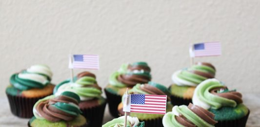 Veterans Day Camouflage Cupcakes