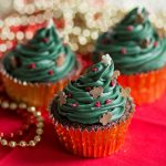 Gingerbread Decorated Christmas Tree Cupcakes