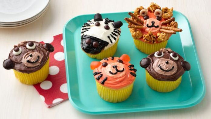 Jungle Animal Cupcakes