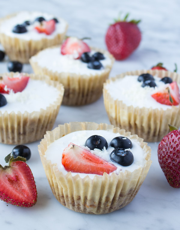 Fruit Topped Coconut Cupcakes